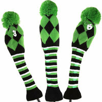 Knitted Golf Headcover Pom Pom Woods Headcover Set Fit Taylormade Callaway Ping