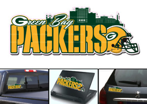 Green Bay Packers Skyline Vinyl Vehicle Car Laptop Yeti Sticker Decal