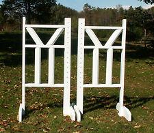 """Horse Jumps Top """"V"""" Double Bottom Column Rails Jumper Wing Standards Pr/6ft #259"""