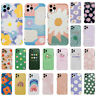 For iPhone 11 Pro Max XS XR 8 7 Plus SE 2020 Cute Flower Pattern IMD Case Cover