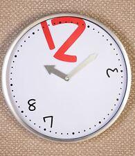 33261 Reloj Caos fabricado en aluminio / cristal plata/blanco / rojo / Negro