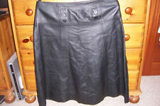 Leather High Waist Regular Size Casual Skirts for Women