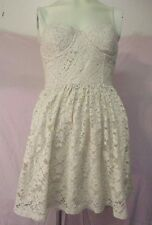 Abercrombie & Fitch M Beige Lace Dress Summer Back Smocking Underwire Straps