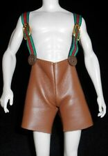 NEW Faux Leather Leiderhosen Shorts Ken Curvy Barbie Doll Boy Clothes Suspenders