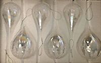 Alison Cork Winter Jewel Glass Baubles Set Of 6 Christmas Tree Decor/Wedding