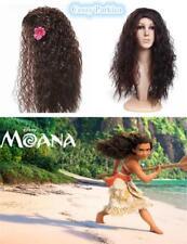 Girls & Ladies Moana Wig Cosplay Hawaiian Princess Fancy Dress Costume Accessory