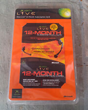 Xbox Live 12-Month Subscription Card w/ Communicator Bag (OEM) Factory Sealed