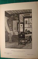Erker Motiv Salzburg Museum - H. Kirchmayr - München - antique print 1885 stich