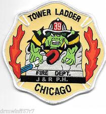 "Chicago  Tower Ladder-39, IL  ""Green Hulk""  (4.5"" x 4.5"") fire patch"