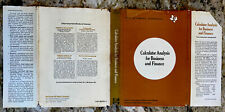 Calculator Analysis for Business - Texas Instruments - 1978 Hardcover