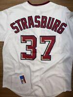 Stephen Stratsburg Washington Nationals White MLB Jersey size M Mens Medium #37