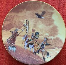 """""""Visions in the Mist"""" Trail Talk Hamilton plate signed by Virgil Marchand #0265"""