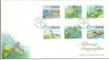 ALDERNEY 2010 DRAGONFLIES SET on UNADDRESSED FIRST DAY COVER