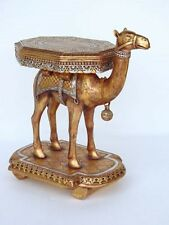 Camel Side Table -Pure Gold Silver Leaf Finish