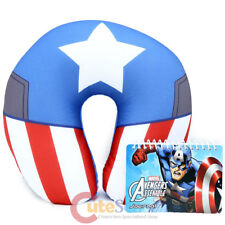 Captain America Neck Rest Pillow Travel Cushion Car Airplane Accesory with Note