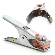 Manual Welding Welder Arc Earth Ground Cable Copper Grip Clip 300Amp Clamp