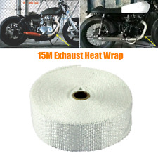 2in×50ft White Car Motorcycle Lava Header Manifold Exhaust Pipe Heat Wrap Tape