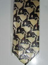 BROOKS BROS  Blue Giraffe  Mens 100 SILK Necktie s 10-26a 6