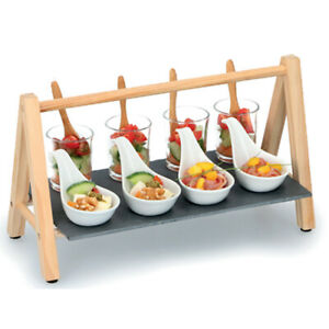 13 Pcs Decorative Appetizer Wooden Slate Starters Snack & Dip Serving Tray Set