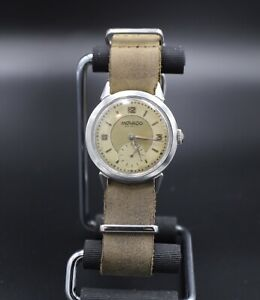 All Orig. Vintage 1940's S/S Men's Movado 17 Jewel Bumper Automatic Swiss Watch