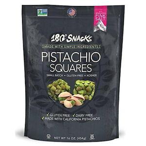 180° Snacks Pistachio Squares with Himalayan Salt Vegan Gluten Free Snack 454g