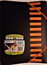 """Eckspanner-Mappe ELBA DIN A4 XL in schwarz//orange """"for Students"""" PP-Kunststoff"""