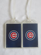 CHICAGO CUBS MLB LOGO LUGGAGE TAGS - SET OF 2 (PAIR) - TRAVEL NAME BAG ID