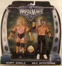 WWE Wrestlemania 22 Rey Mysterio And Kurt Angle With Championship Belt (MOC)