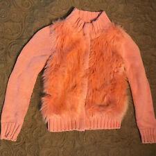 GapKids Orange Fuzzy Sweater/Jacket - Size 6-7 - Gently worn