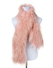 Mongolian Fur Long Scarf shawl neck warmer Soft to the Touch Stole Multi Colour