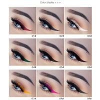 15 Colors Metallic  Smoky Eyes Eyeshadow Waterproof Glitter Liquid Eyeliner Lot