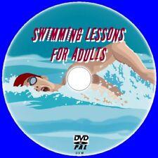 NATATION INSTRUCTION POUR ADULTES + Water Sécurité Vidéo DVD Apprendre Old &