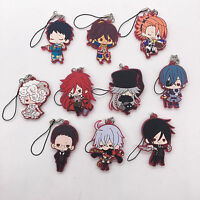 T417 10pcs/set Anime Black Butler Rubber Keychain Keyring Cosplay