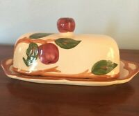 Vintage Franciscan Apple Hand Painted Covered BUTTER DISH