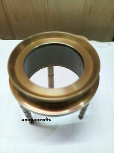 Solid Brass Round Magnifying Paper Reader Collectible Item.