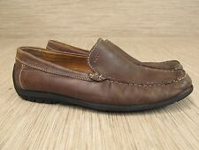 Ecco Brown Leather Driving Loafers Men's Size US 12 W EUR 45 W Slip On Shoes