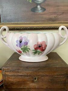 H J Wood Mantle Vase Planter Handled Vase Handpainted 30 cm l Floral Radford?