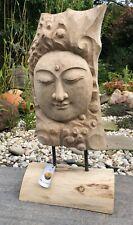 Buddha  Statue  Skulptur aus Suar- Teak- Holz. Schönes Designerobjekt.