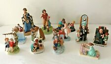 Vintage Lot of 13 Norman Rockwell Figurines Statues Great Condition w/o Orig Box