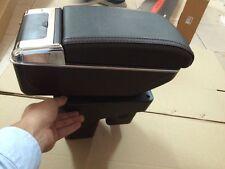 Car Black Storage Box Armrest Center Console For Honda FIT JAZZ 2014-2015