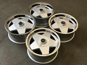 Borbet A deep dish alloy wheels, 4x100, BMW e30, Mazda mx5 etc