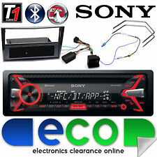 Vauxhall Zafira Sony CD MP3 Bluetooth Car Stereo Piano Black Fascia Steering Kit