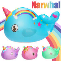 New Fun Toys Kawaii Narwhal Slow Rising Cream Scented Stress Relief Toys Gifts