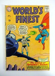 World's Finest #153 DC Comics Batman Slaps Robin, Superman VG+ 1965