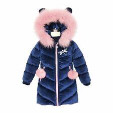 Children's Clothing Winter Jacket For Girls Thicken Coat Hooded Velour Outwear G