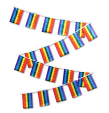30ft String Flag Set of 20 Rainbow Gay Lesbian Pride Lgbt Flags 12x18 Pennants