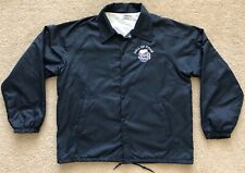 Vintage Hall Of Foam Old Chicago World Beer Tour Nylon Snap Jacket Navy Large