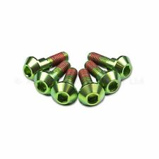 6x Yamaha YZF-R6 R6 98-02 Green Titanium Rear Disc Rotor Bolts, Threadlock