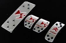 Kit Pedaliera Sportiva Citroen DS3 Silver/Red 015