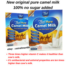 NEW HALAL 2 Boxes Camel Milk Powder Natural With High Protein & Calcium (20's)